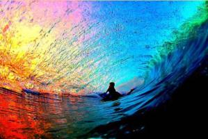 Sunset-through-a-wave