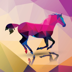 stock-illustration-55958486-geometric-polygonal-horse-pattern-design-vector-illustration