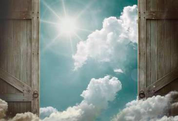 39540139-wooden-doors-open-to-heaven-sky
